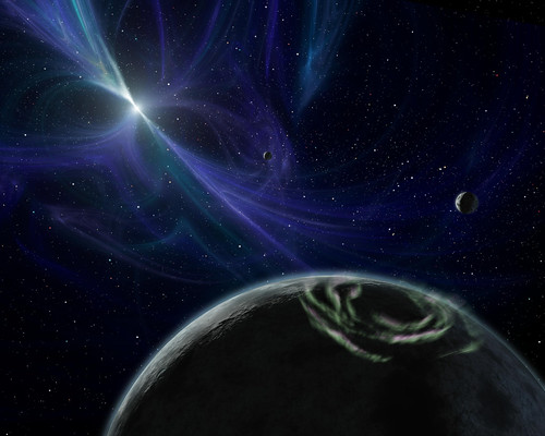 Released to Public: Artist View of Pulsar Planet System by NASA/JPL (NASA)