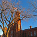 Blue Sky behind Smithsonian Castle by Tom O'Neill