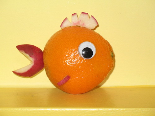 Radishy Clementine - googly eyed food