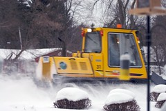 asphalt(0.0), snow blower(0.0), light commercial vehicle(0.0), construction equipment(0.0), bulldozer(0.0), vehicle(1.0), snow(1.0), snow removal(1.0), snowplow(1.0),