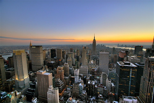 New York City Skyline Sunset Wallpaper, Background