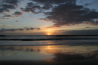 Image of Playa de Fañabe near Playa de las Américas. sunset evening tenerife canaryislands hisgett fanabebeach