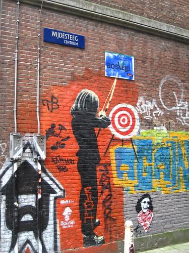 Amsterdam stencil graffiti