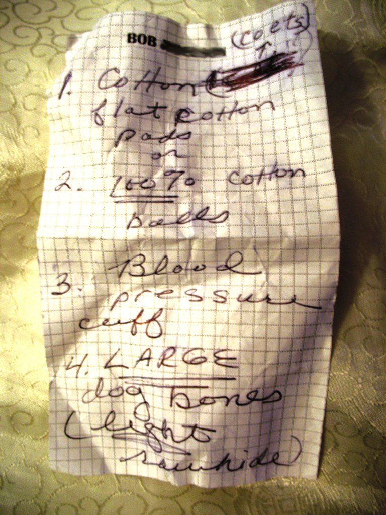shopping list food