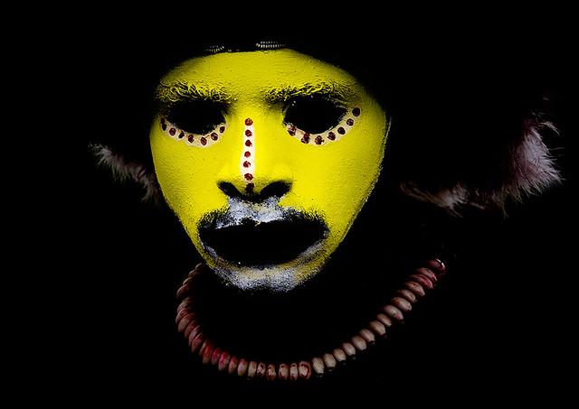 Papua New Guinea Huli wigman tribe