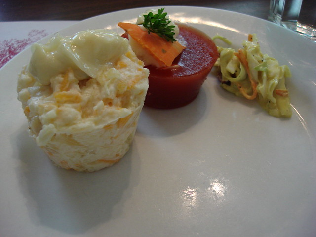 Pineapple/Cheese Salad, Tomato Aspic, Coleslaw at Walnut Hills, Vicksburg MS