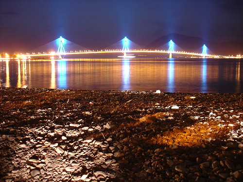 Rio-Antirrio Bridge (By night), Greece