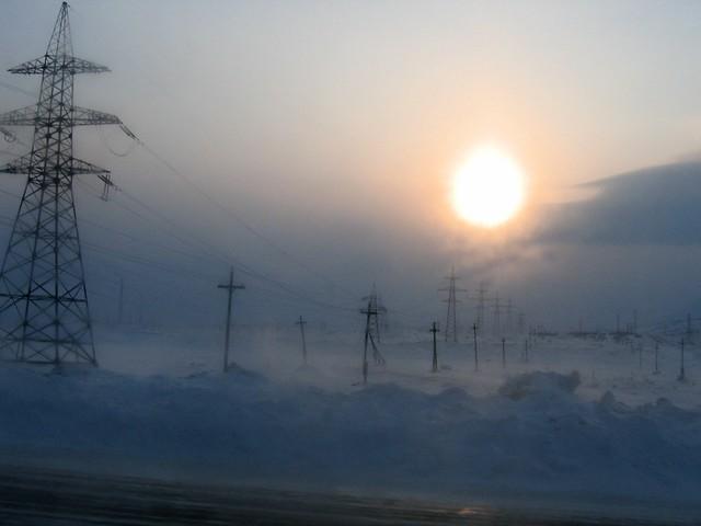 Monchegorsk, winter