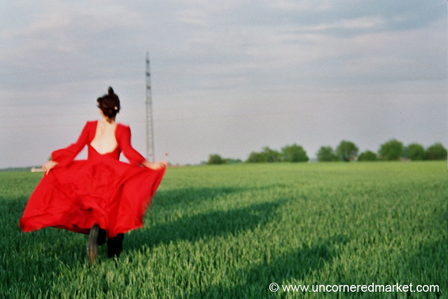 Lady in Red - Prague, Czech Republic