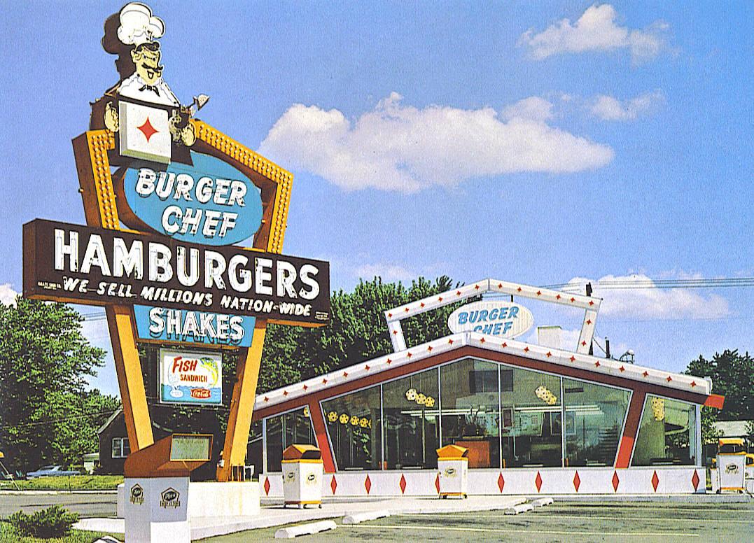 Burger Chef postcard - location unknown - 1969