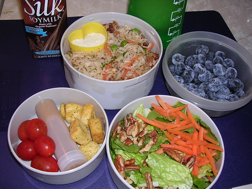 Rice pilaf and salad 2/20