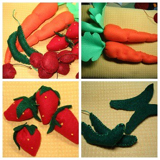 Felt Fruits & Veggies