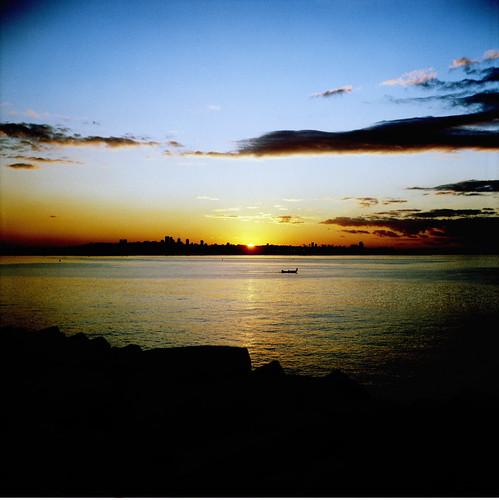 sunset lebanon 120 6x6 film mediumformat scenery zeissikon beirut