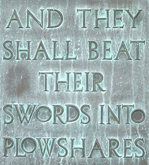 And they shall beat their swords into plowshares