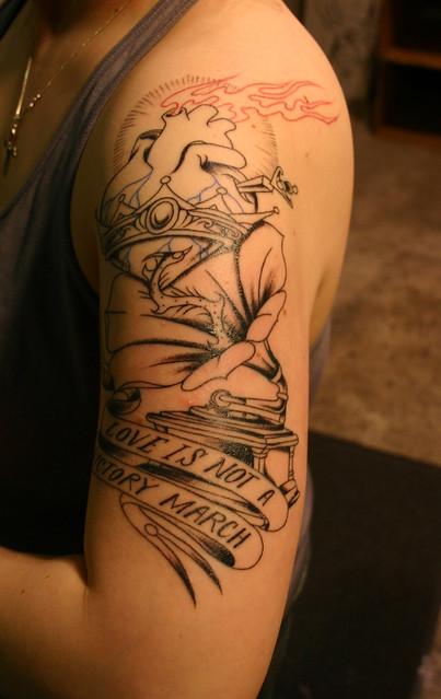 corrie's new tatoo