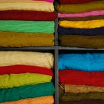 Colorful Fabrics - Hoi An, Vietnam