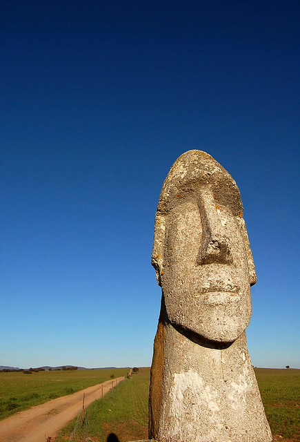 moai on the road