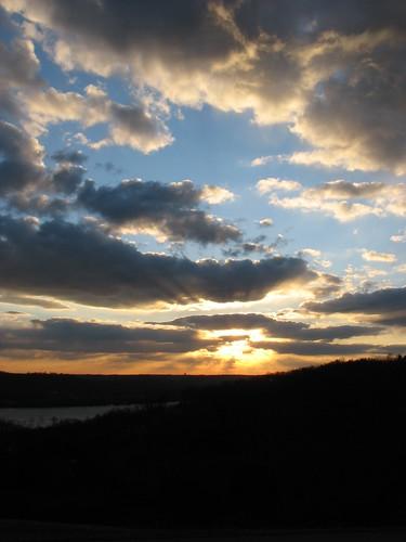 sunset woodlandmoundpark