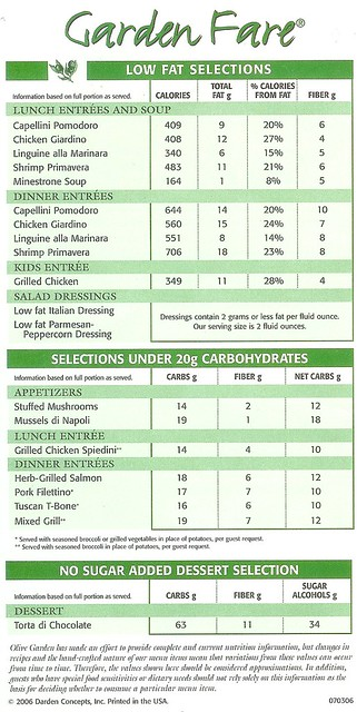 45 Simple Ways To Nutrition Information Olive Garden