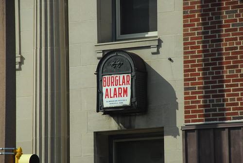 Burglar Alarm on Commercial Building