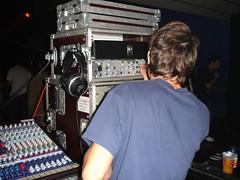 drums(0.0), music(1.0), audio engineer(1.0), disc jockey(1.0), recording(1.0), person(1.0),