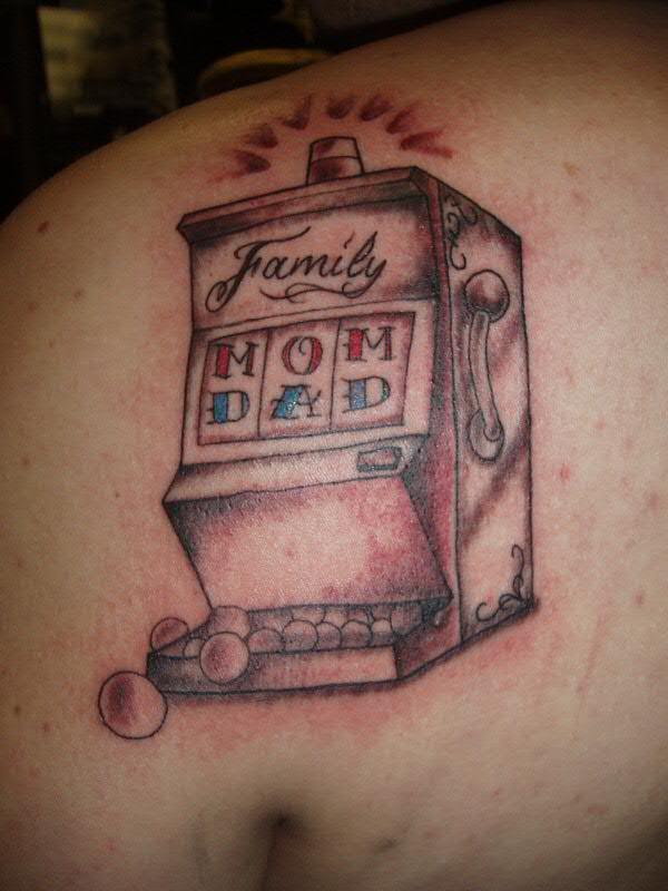 family slot machine tattoo by jon poulson a photo on
