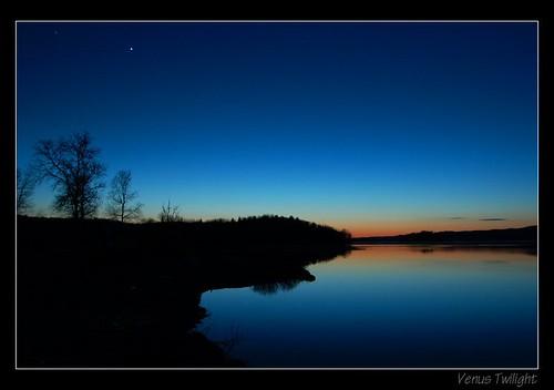 road lake canada rural twilight venus center line gordon desbarats