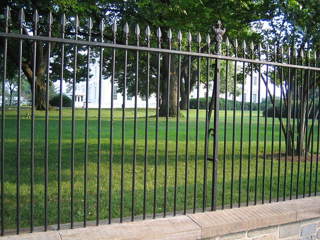 White house iron fence flickr photo sharing