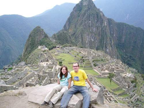 Us! On a rock! At Machu Picchu!