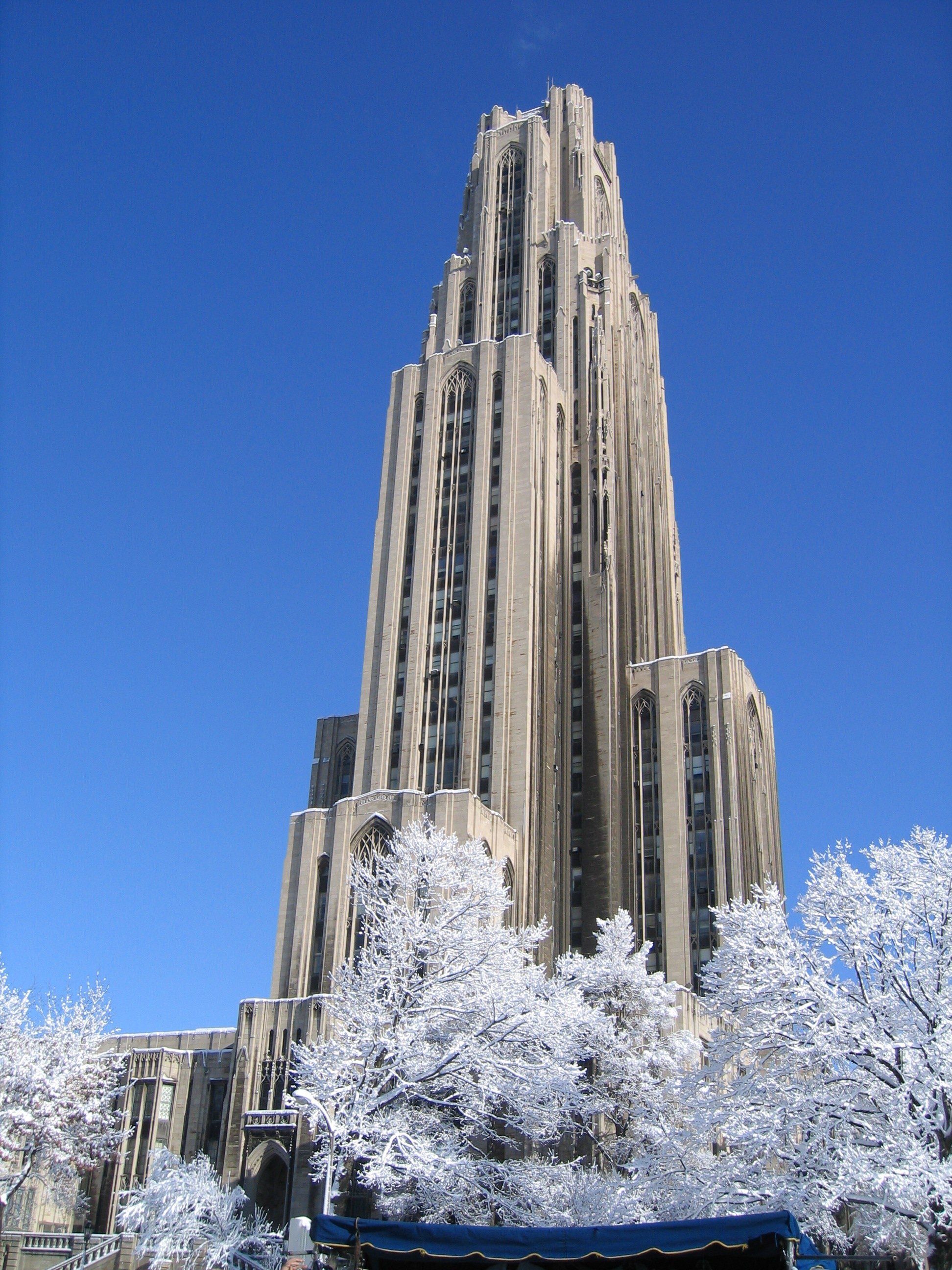 F 150 Custom >> Cathedral of Learning in Snow | Flickr - Photo Sharing!