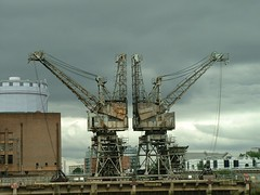 Twin Cranes at Battersea Power Station