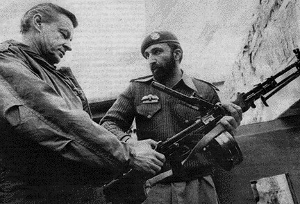Osama Bin Laden and Zbigniew Brzezinski