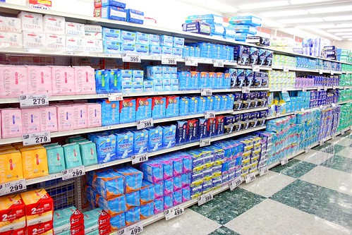 Sanitary Towels Galore, but Few Tampons