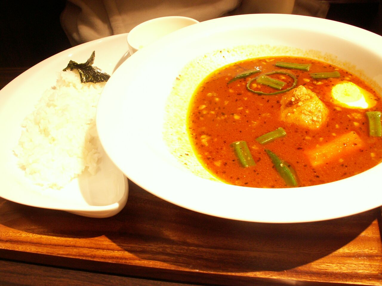 本町・スープカレー心 本町店/納豆とオクラのスープカレー13辛