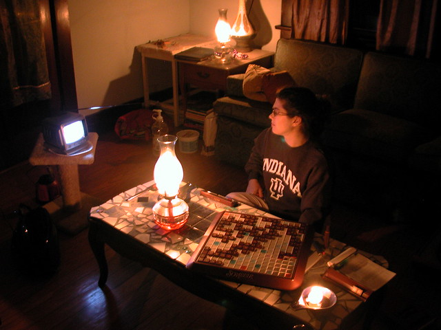 More Scrabble by Candlelight