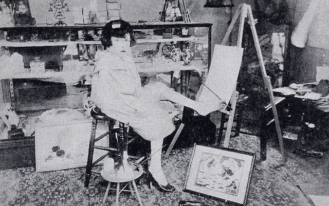 Mary Belle de Vargas in her studio