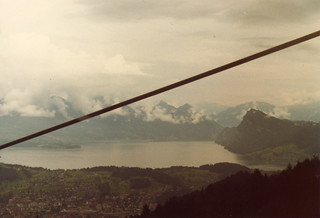View from cable car on Mt Pilatus