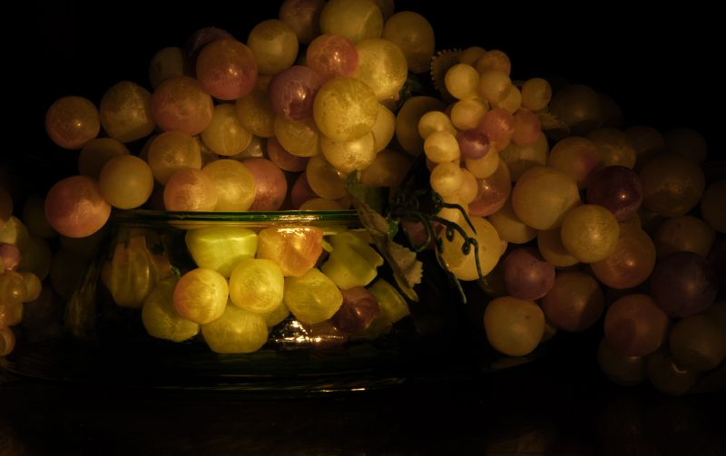 green grapes and glass