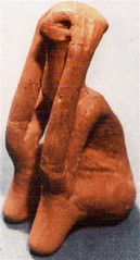 "Neolithic Seated Figure, The ""Thinker of Cucuteni"",  Romania"