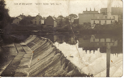 Dam & Brewery West Bend Undated Post Card