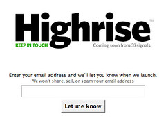 Highrise: Shared contact manager
