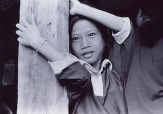 Kid at polling station