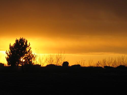 sunset minnesota ironton