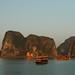 Anchored Boats - Halong Bay