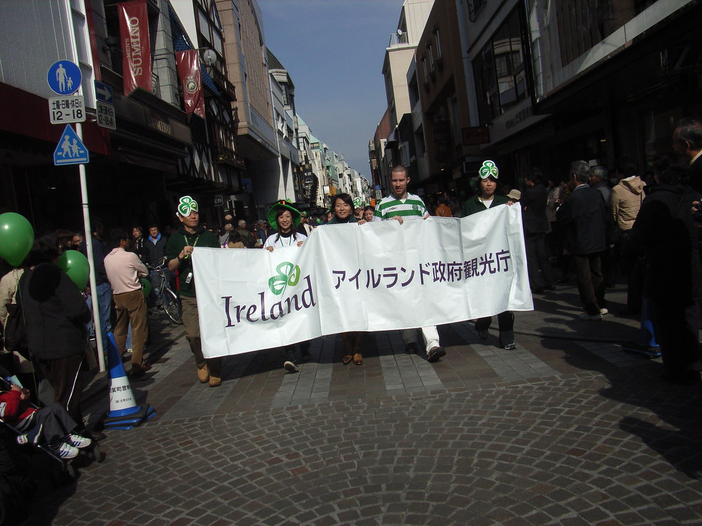 St. Patrick's Day Parade Motomachi, Yokohama, Japan