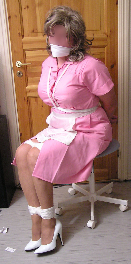 Maid bondage apron