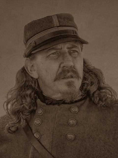 General George Pickett Reenactor Playing General George