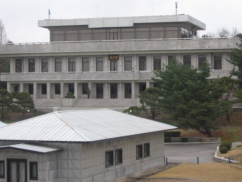 North Korean grey Stalinist building
