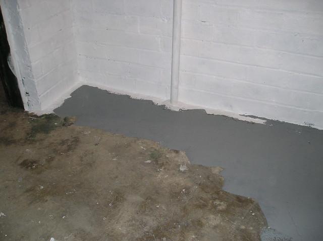 Painted Baement Floor Living Room