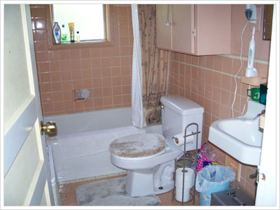 The before picture of the bathroom